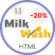 MilkWash - Cleaning Service Company Website Template