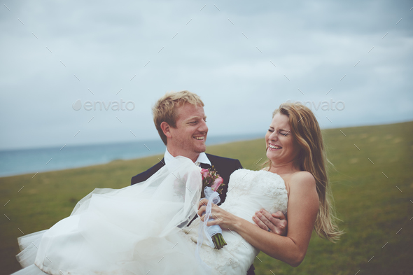 Happy Couple Just Married - Stock Photo - Images