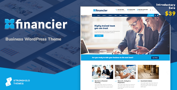ThemeForest Financier Business WordPress Theme 20451925