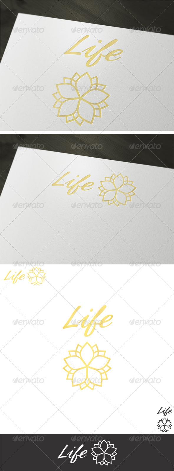 Life Logo Template - Vector Abstract