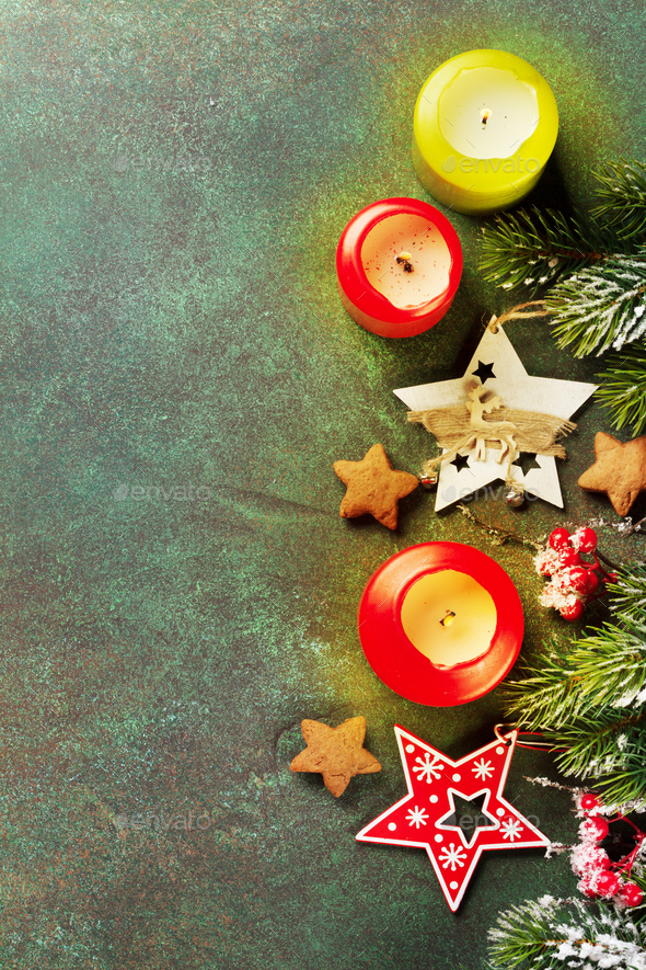 Xmas greeting card - Stock Photo - Images