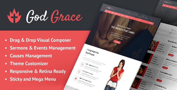 God Grace: Church WordPress Theme - Churches Nonprofit