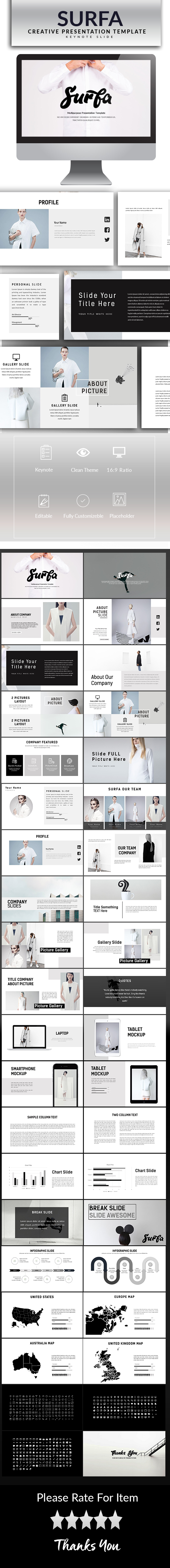 GraphicRiver Surfa Keynote Template 20854403