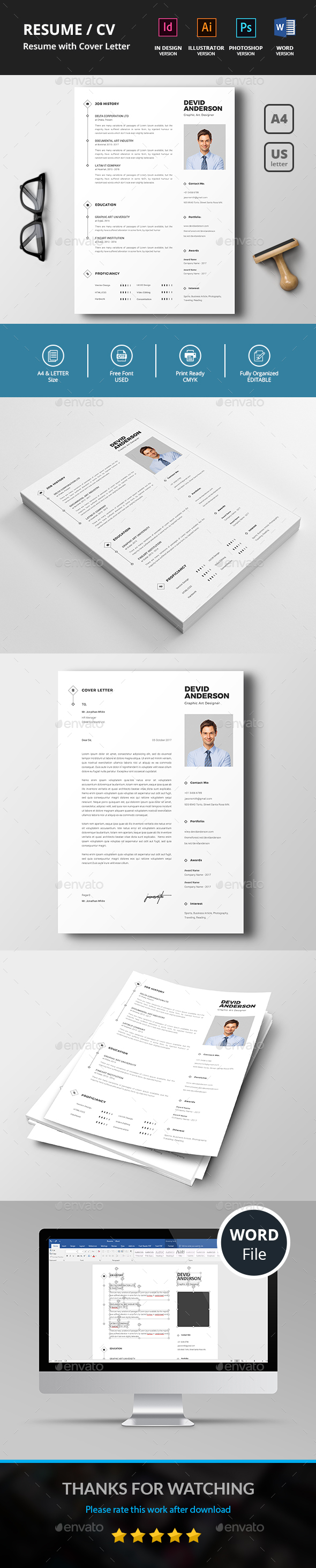 GraphicRiver Resume CV 20854406