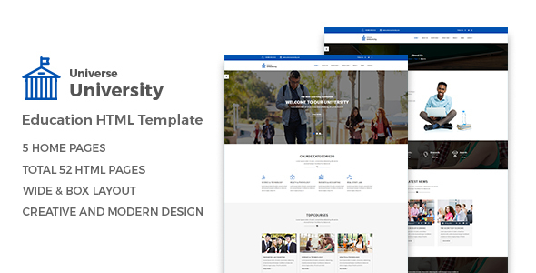 ThemeForest Universe Education HTML Template 20854472