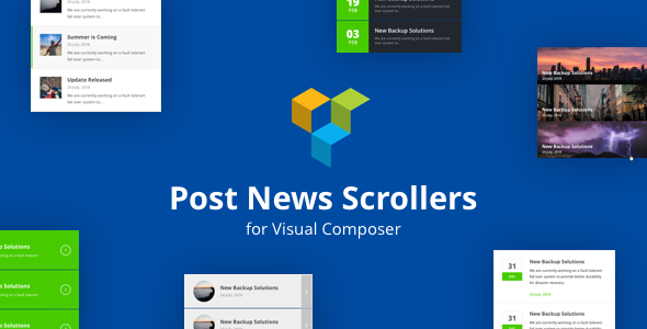 Post News Scrollers for Visual Composer WordPress Plugin