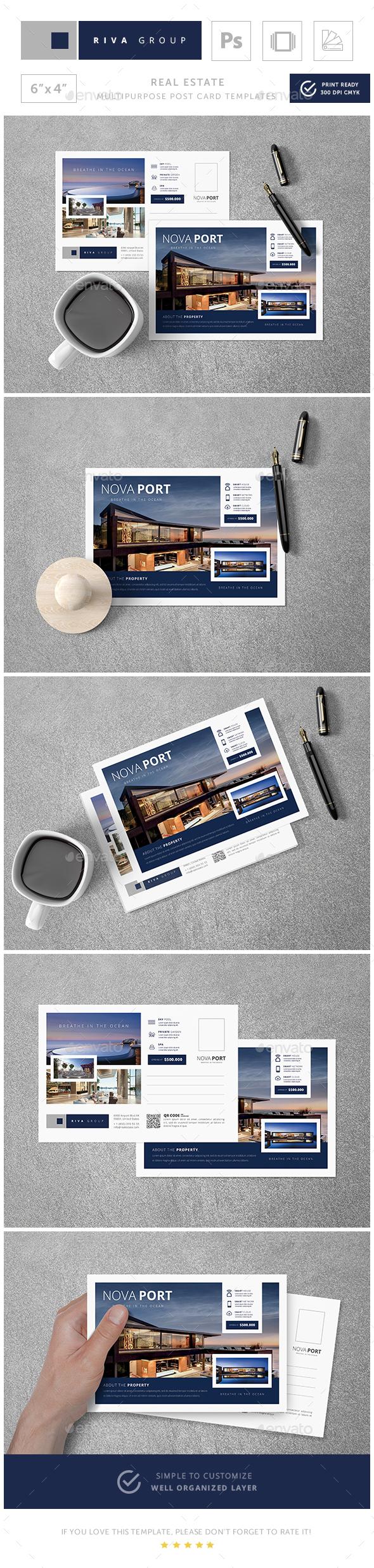 GraphicRiver Nova Real Estate Post Card Templates 20831730
