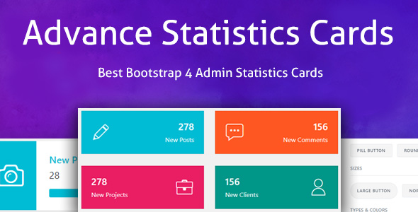 CodeCanyon Advance Statistics Cards Bootstrap 4 Admin Statistics Cards Layout 20855205