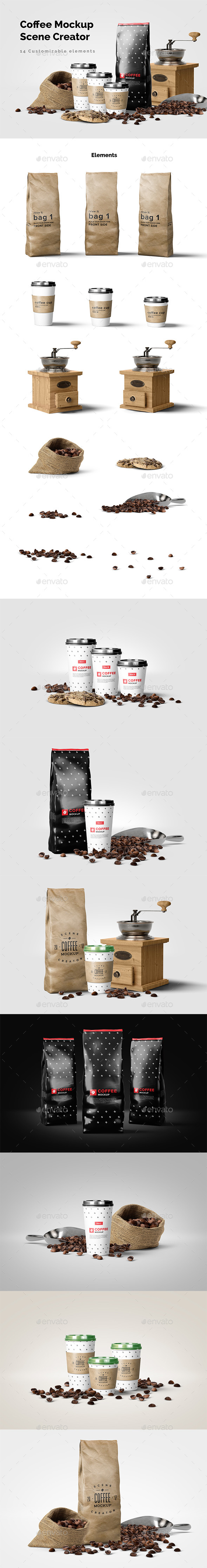 Coffee Mockup Scene Creator - Food and Drink Packaging