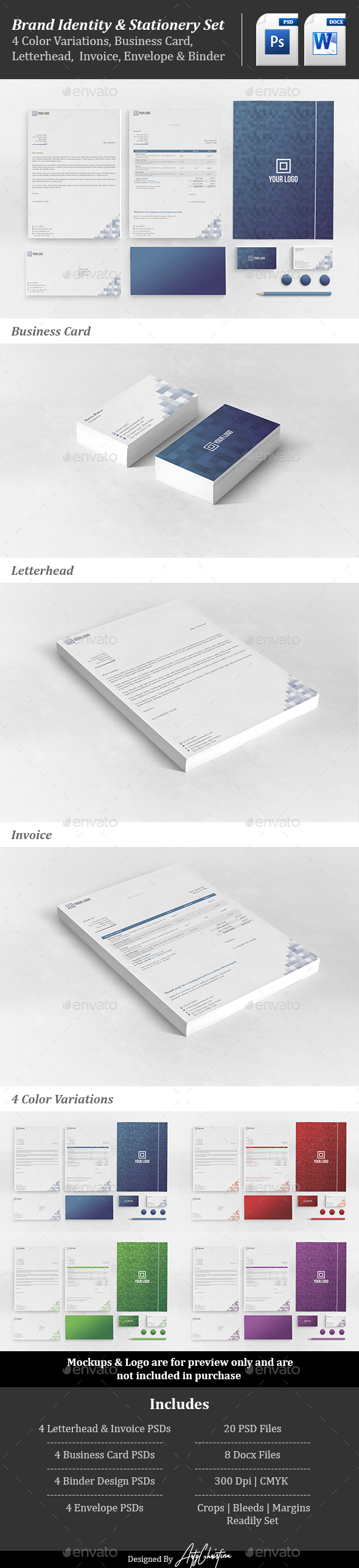 Corporate Stationery Set Vol. 2 - Stationery Print Templates