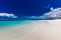 Whitehaven Beach with white sand in the Whitsunday Islands, Quee