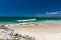 CALOUNDRA, AUS - DEC 17 2016: Hot sunny day at Kings Beach Calun