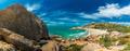 Panoramic view of Horseshoe Bay at Bowen - iconic beach, north Q