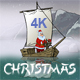 Christmas Animated Card  Santa Claus In Asia - VideoHive Item for Sale