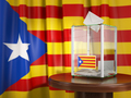 Referendum of independence of Catalonia concept. Ballot box with - PhotoDune Item for Sale