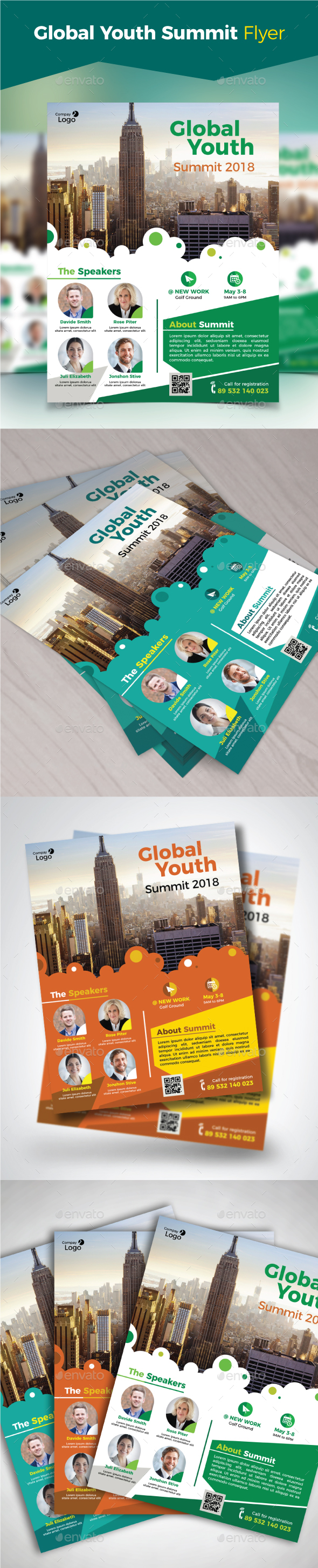 GraphicRiver Global Youth Summit Flye 20856246