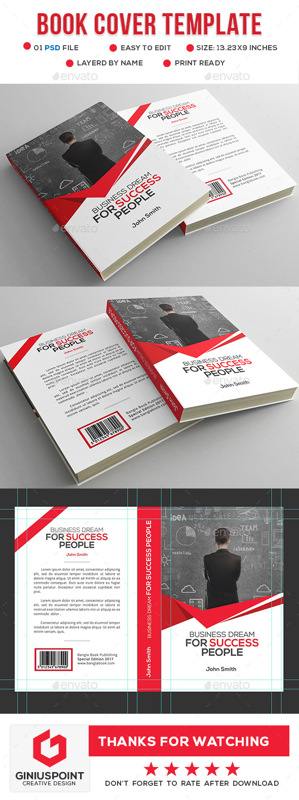 GraphicRiver Book Cover Template 20856316
