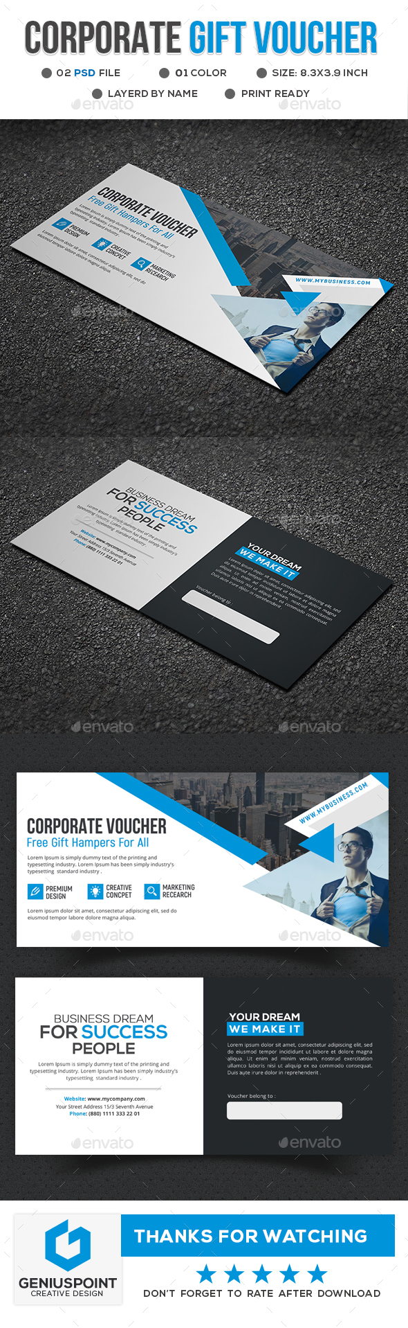 Corporate Gift Voucher - Cards & Invites Print Templates