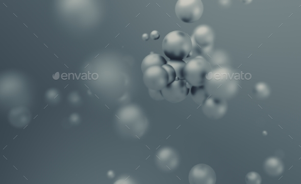 GraphicRiver Abstract 3D Rendering of Flying Spheres 20856538