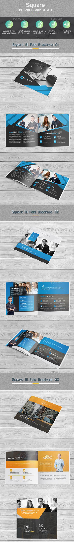 Bi-fold Square Brochure Bundle 3 in 1 - Corporate Brochures