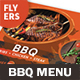 BBQ Restaurant Menu Flyers – 4 Options