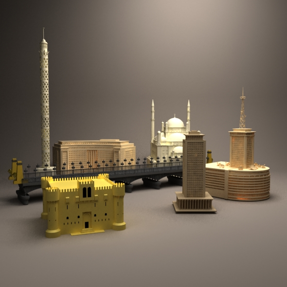 3DOcean Egyptian buildings 20856733