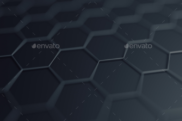 GraphicRiver Abstract 3D Rendering of Surface with Hexagons 20856859