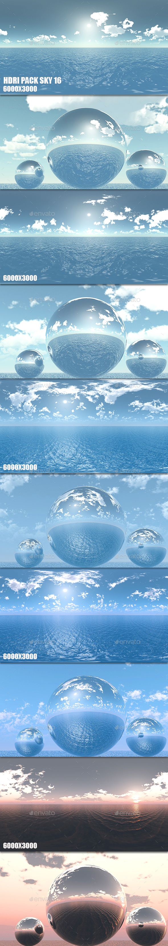HDRI Pack Sky 16 - 3DOcean Item for Sale