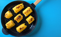 Hot baked corn in a frying pan - PhotoDune Item for Sale