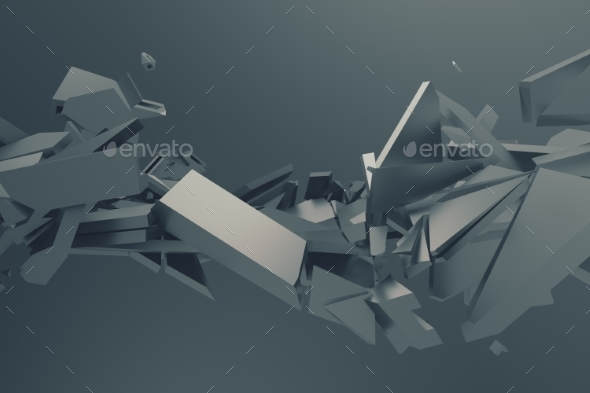 GraphicRiver Abstract 3D Rendering of Cracked Surface 20857046
