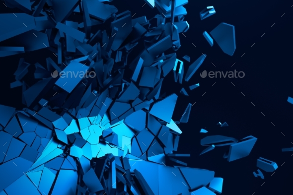 GraphicRiver Abstract 3D Rendering of Cracked Surface 20857082