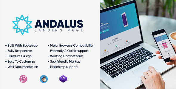 Andalus - App Landing Page - Technology Site Templates