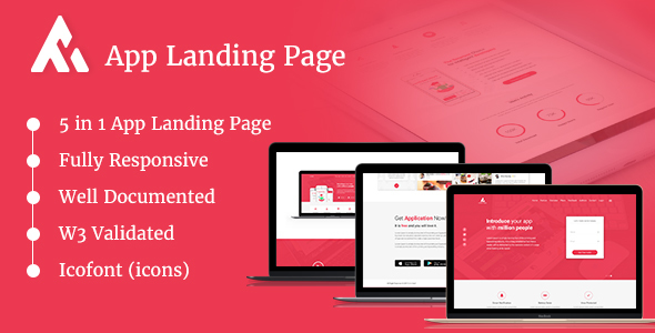 ThemeForest AppRaxx 5 in 1 App Landing Page 20857127