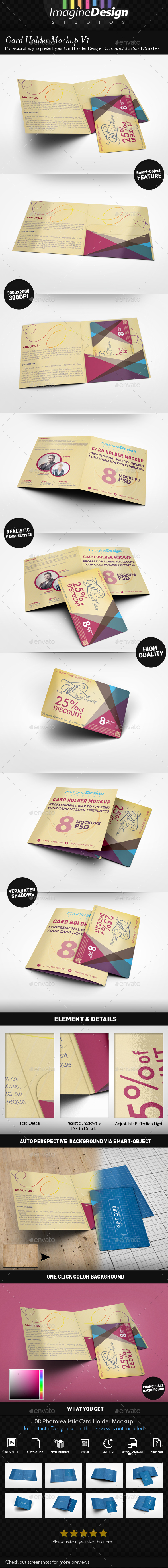Card Holder Mockup V1 - Miscellaneous Print