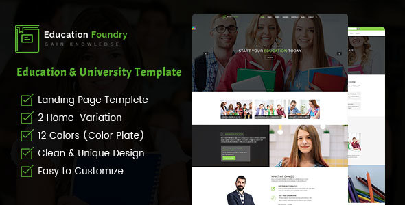 Download Education Foundry - Academy & Training Courses HTML5 Template            nulled nulled version
