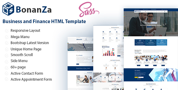 BonaZa - Business and Finance HTML Template