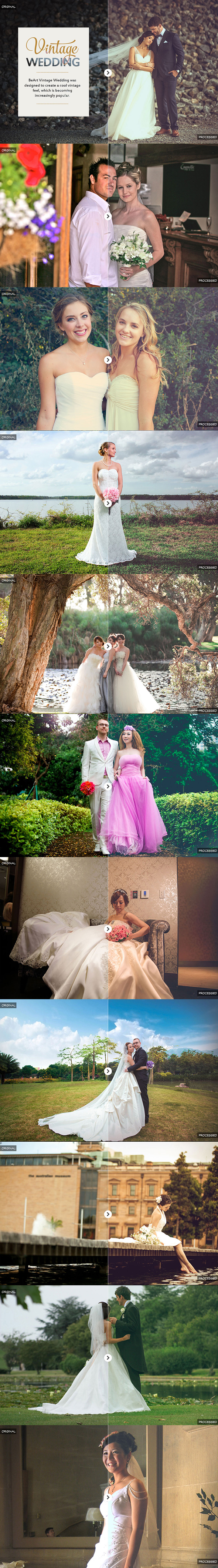 GraphicRiver Vintage Wedding Photoshop Actions 20857281