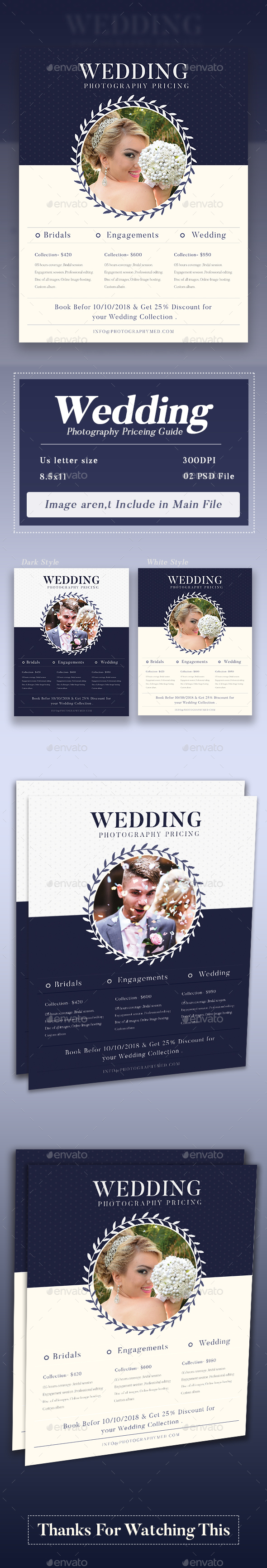 GraphicRiver Photographer Price Guide 20857282