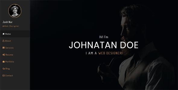 Personia - Personal Resume / CV / Portfolio HTML Template