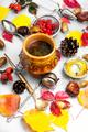 cup hot autumn tea - PhotoDune Item for Sale