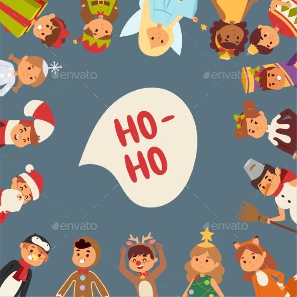 GraphicRiver Illustration of Christmas Carnival Costume Kids 20857737
