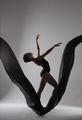 Silhouette of a ballerina dancing on a black cloth - PhotoDune Item for Sale