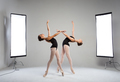 Backstage shooting two graceful dancers in the studio - PhotoDune Item for Sale