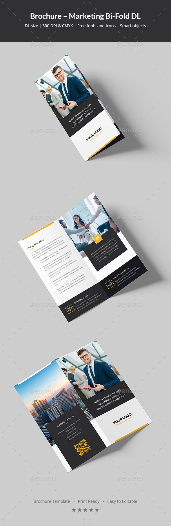 Brochure – Marketing Bi-Fold DL - Corporate Brochures