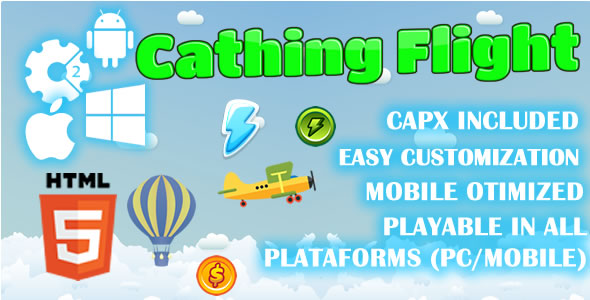 CodeCanyon Cathing Flight HTML5 Game Capx 20858252