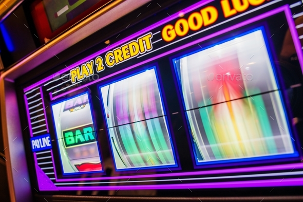 Spinning Slot Machine Drums - Stock Photo - Images