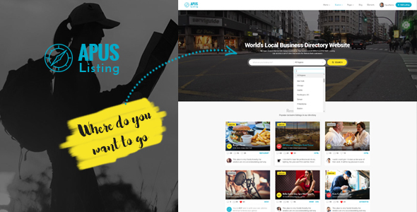 ApusListing - Directory & Listing WordPress Theme - Directory & Listings Corporate