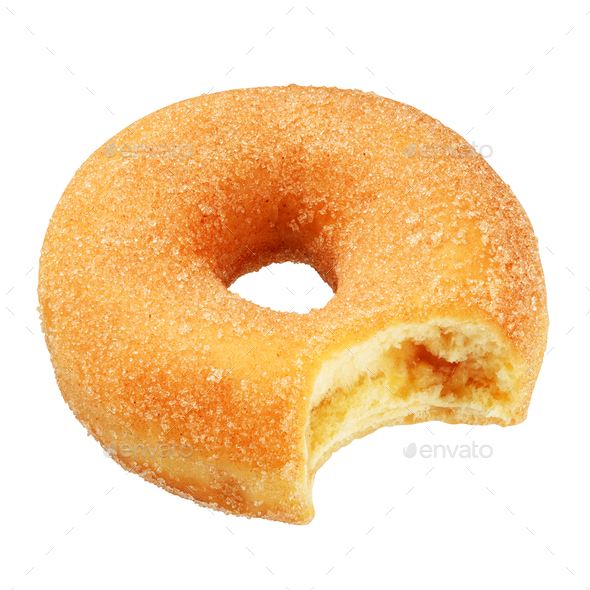 Yellow donut isolated - Stock Photo - Images