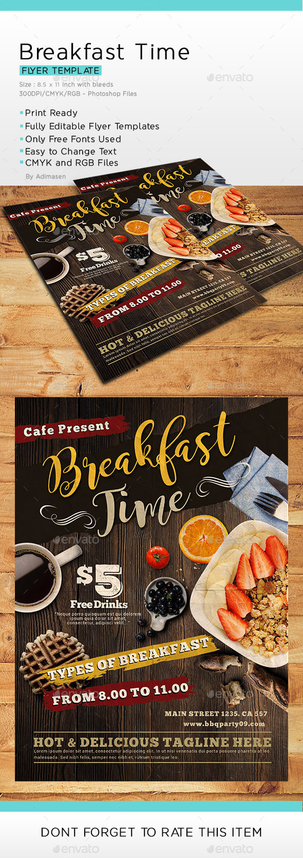 GraphicRiver Breakfast Time Flyer 20858563