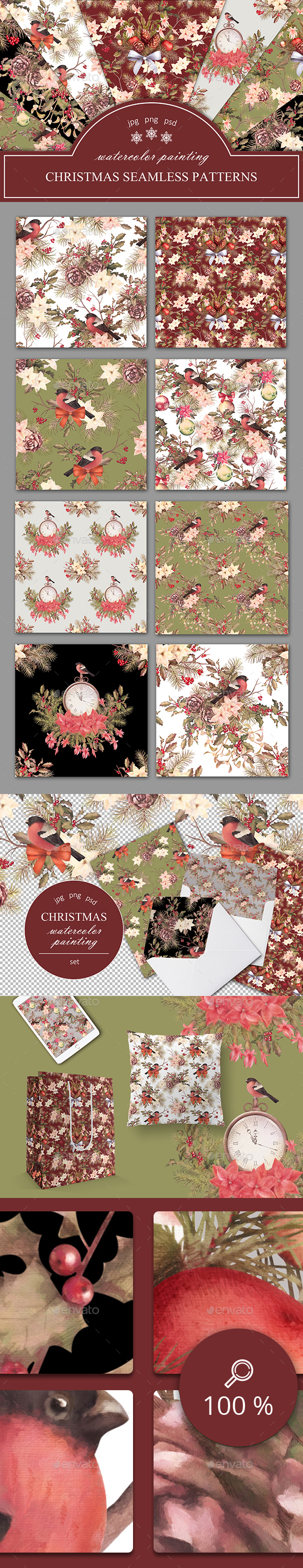 Christmas Seamless Patterns - Patterns Backgrounds